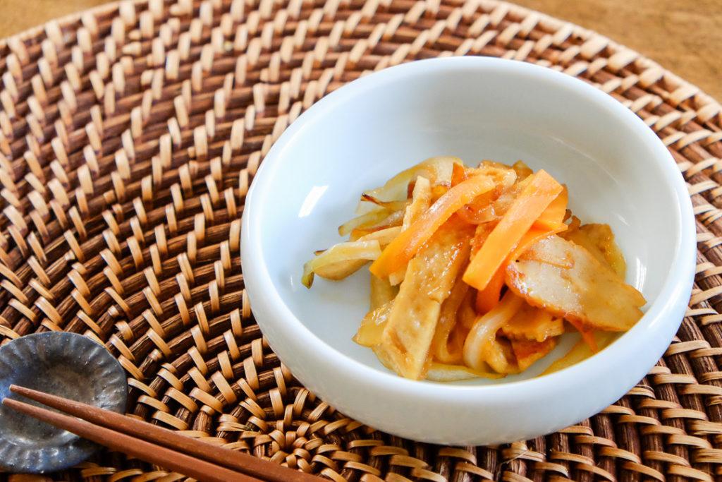 韓国風さつま揚げの炒め物