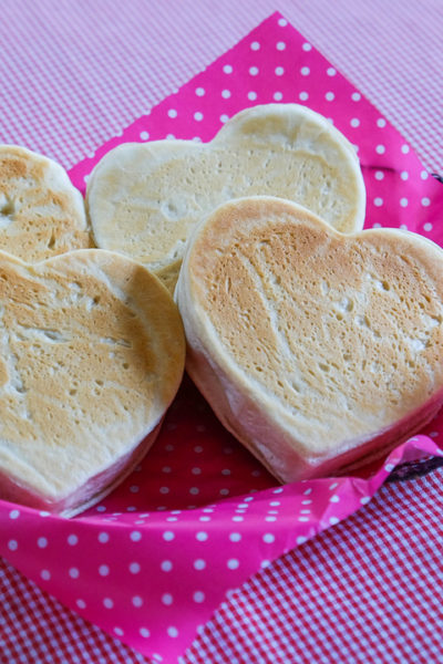 バレンタインデーのサンドイッチに?ハート形のイングリッシュマフィン