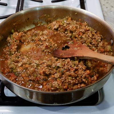 スープカレーの素で作るドライカレー・手順4