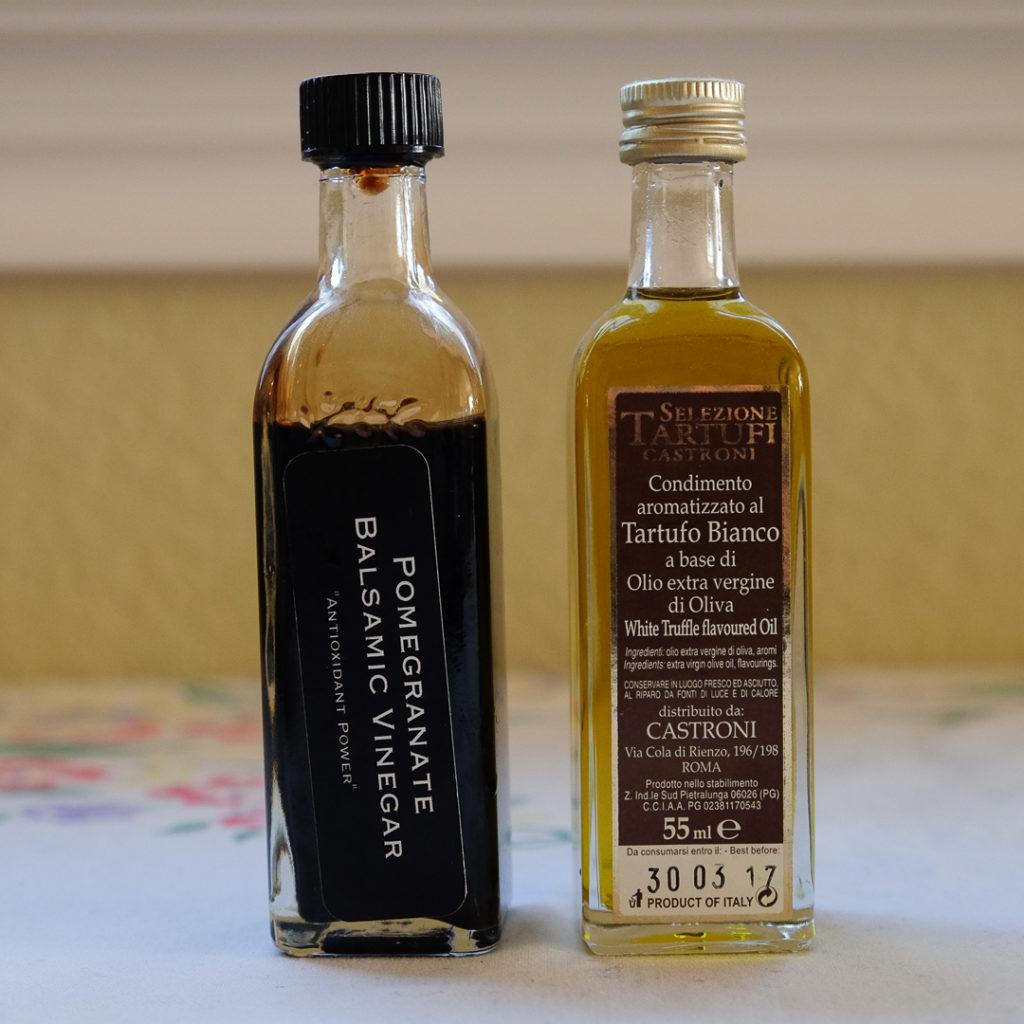 いちぢくバルサミコ酢とホワイトトリュフオイル