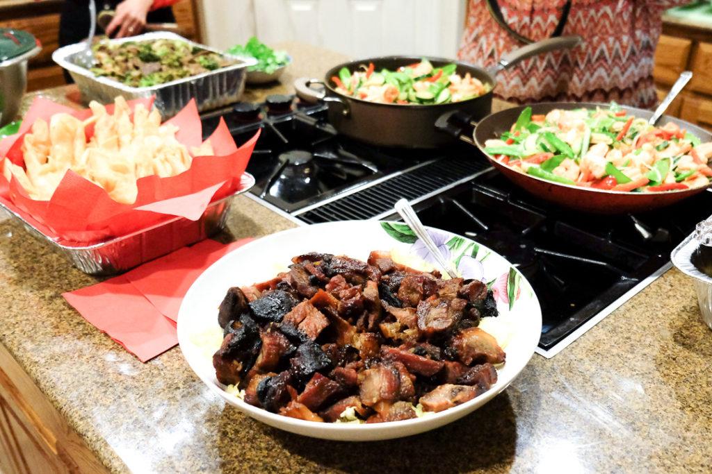 中華料理のご馳走