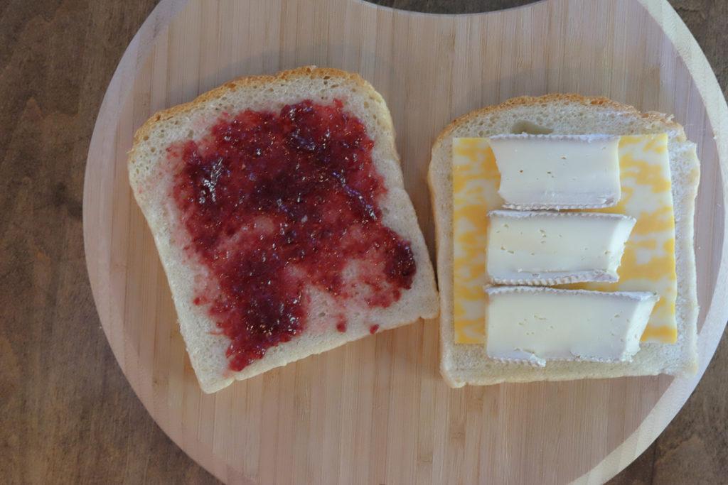 グリルドチーズサンドイッチ・手順1