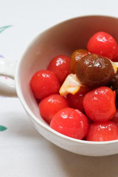 【レシピ】ミニトマトのはちみつレモンマリネ*作り置きにも!