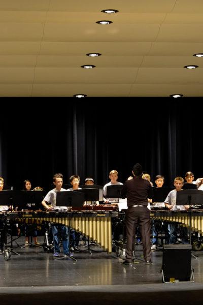 次男の学校のパーカッションコンサート、とアメリカの学校のバンド事情