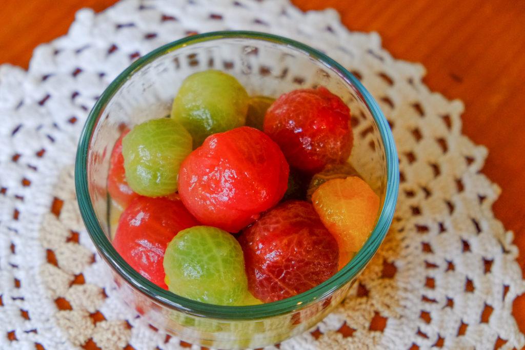 湯むきトマトのマリネ
