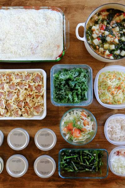 今週の作り置き*チーズ詰めシェルパスタのキャセロール、空芯菜の炒め物、フェンネルとオレンジのサラダ、など