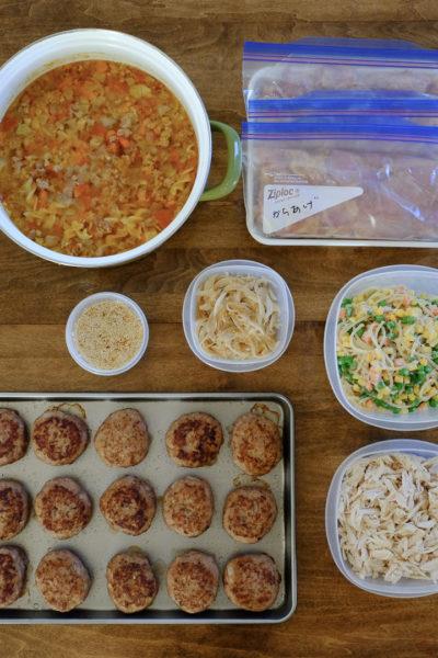 今週の作り置き★から揚げ、ハンバーグ、スパゲティサラダ、など♪