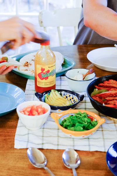 今夜はメキシコ料理*お野菜もたっぷり、ビーフファヒータ