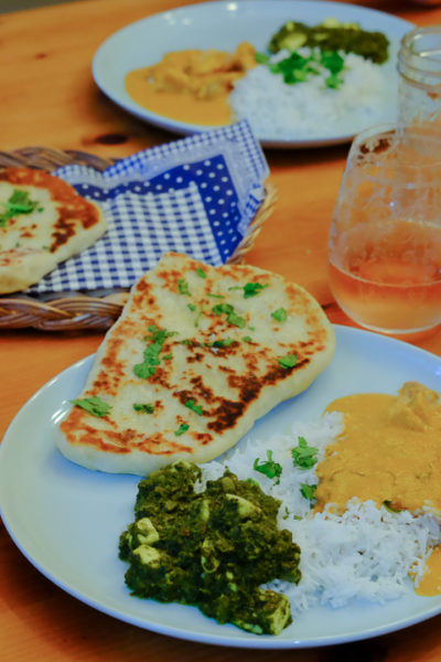 【レシピ】2種類のインドカレーと、ふかふかナン(レシピあり)も手作り♪