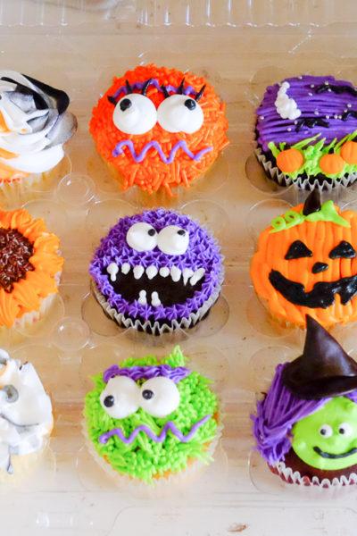 カップケーキクラスに参加*ハロウィーンがテーマのカップケーキを、12種類も作りました🎵