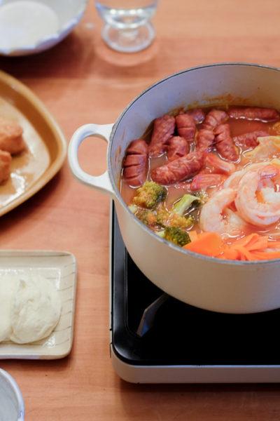 【レシピ】トマト鍋&モッツァレラしゃぶしゃぶ — [旅行中の野菜不足解消計画!]