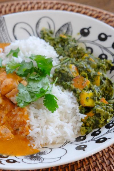 【おすすめレシピへのリンクあり】おうちインド料理 – [チキンティッカマサラ]と[サグパニール]