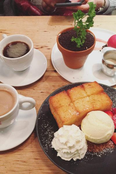 NY旅行2017⑧韓国系のデザートバー「Spot Dessert Bar」でいただく[厚切りハニートースト]と[植木鉢デザート]
