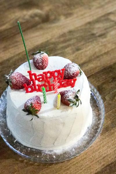 【レシピ】「トールシフォン型」で焼く「バニラシフォン」@次男の13歳の誕生日