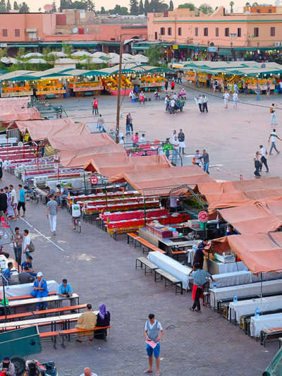 モロッコ&スペイン旅行⑦*(マラケシュ)ジャマ・エル・フナ広場を歩く