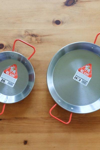 スペイン製のパエリア鍋。お手入れの仕方と、サイズの選び方。
