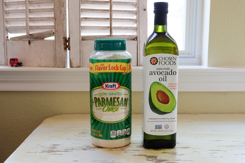 アボカドオイルと粉チーズ