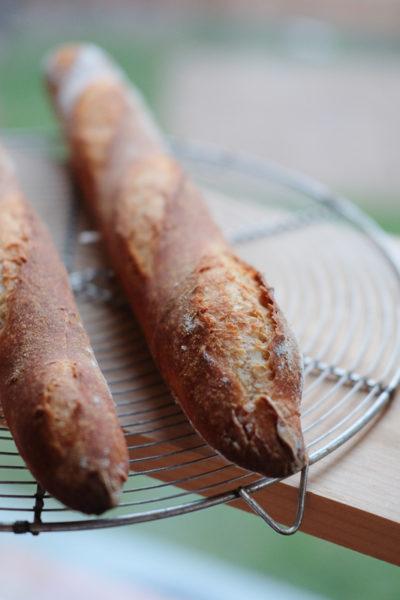 ライム酵母バゲット(フランスパン)、なかなかよい感じに焼けました♪
