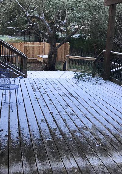 まだまだ夏だと思っていたら、雪が降った。