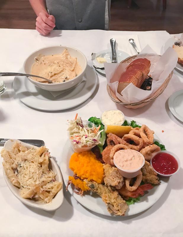 モントレー初日のディナー