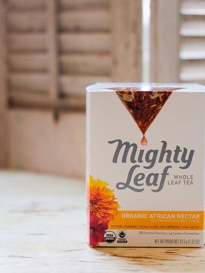 """おすすめルイボスティー★""""マイティ・リーフ(Mighty Leaf)""""の「オーガニック・アフリカン・ネクター」"""