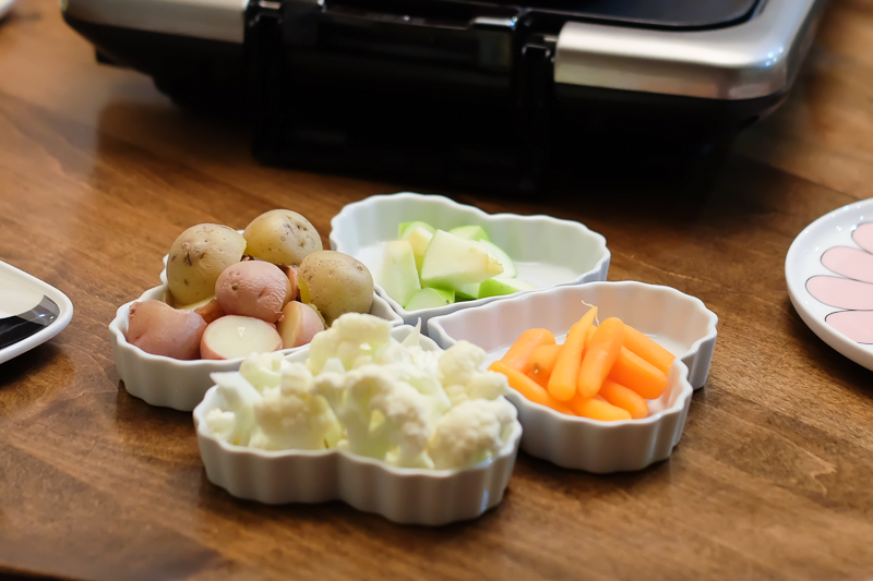 ポテト、グリーンアップル、にんじん、カリフラワー