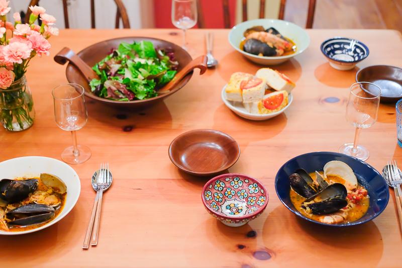 女子会のテーブル