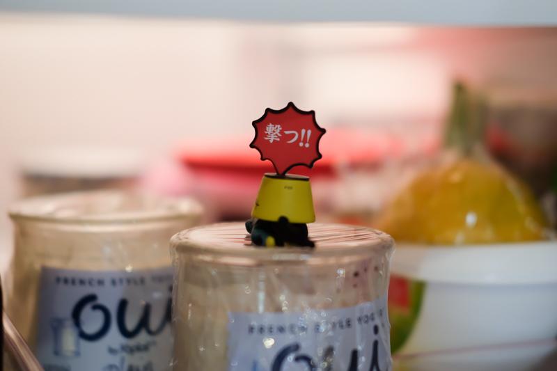 冷蔵庫の中のものを守る、プリン隊