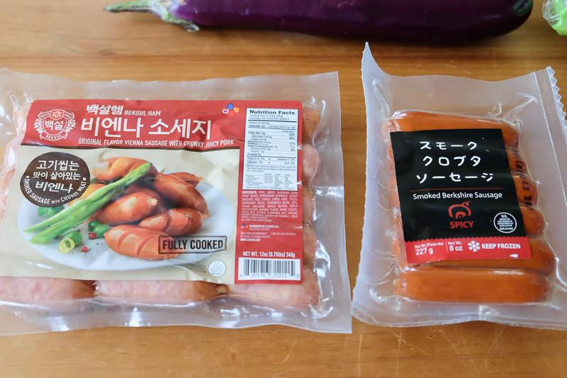 日本&韓国のソーセージ