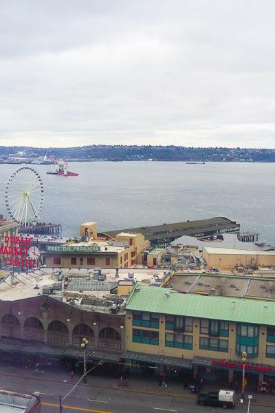 【シアトル旅行記】シアトルに来ています。パイクプレイス前の最高のロケーションに宿泊中♪