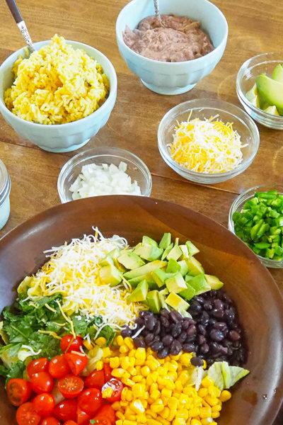 【レシピ】「タコス&サウスウエスト風サラダ」のディナー。サラダのレシピあり♪