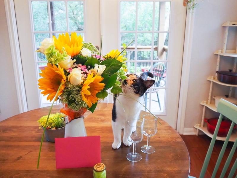 お花とカードとボディスクラブ