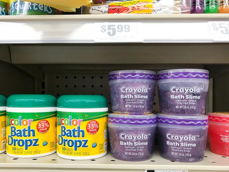 Crayolaのバスドロップ&バススライム