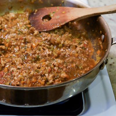 スープカレーの素で作るドライカレー・手順6