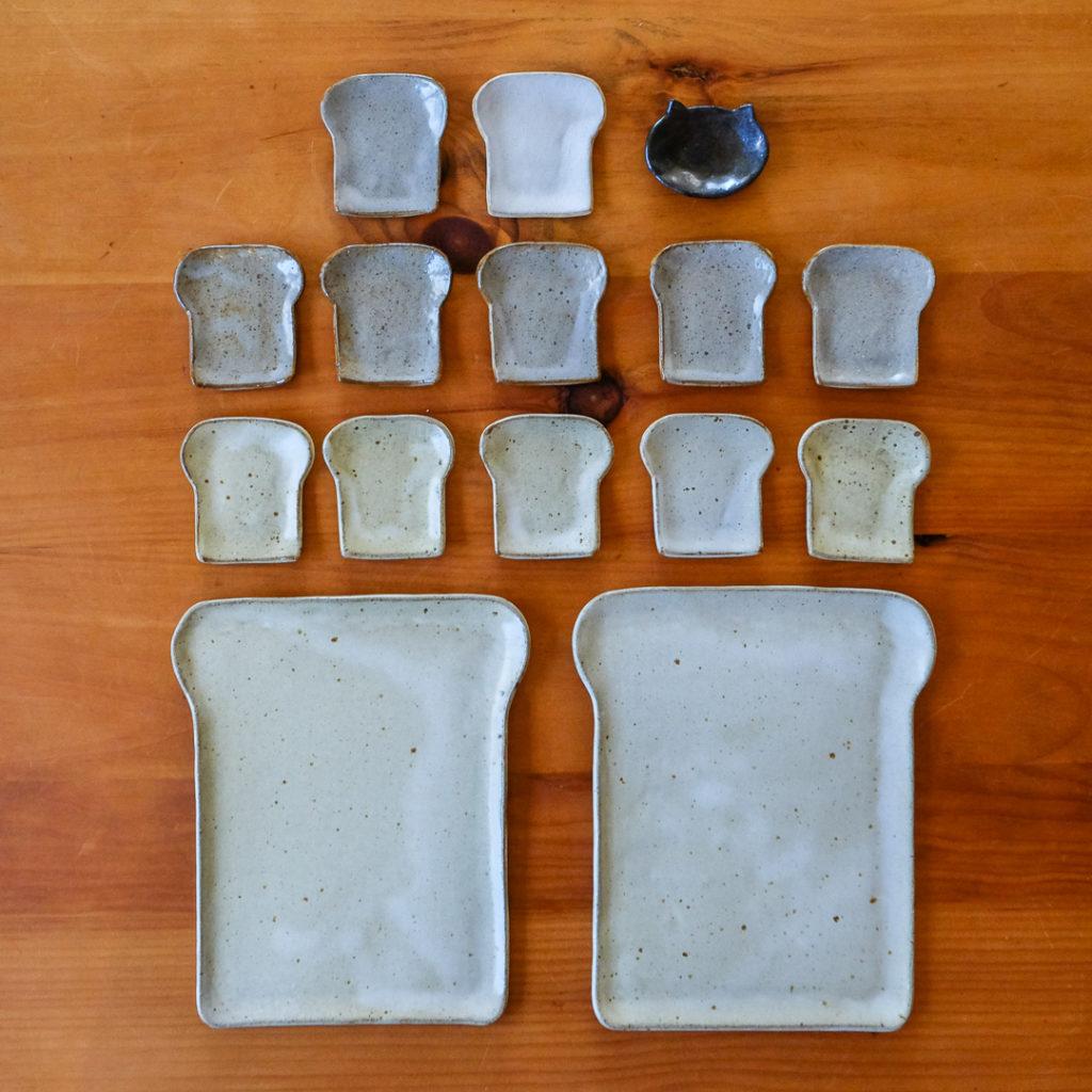 食パン型大皿小皿