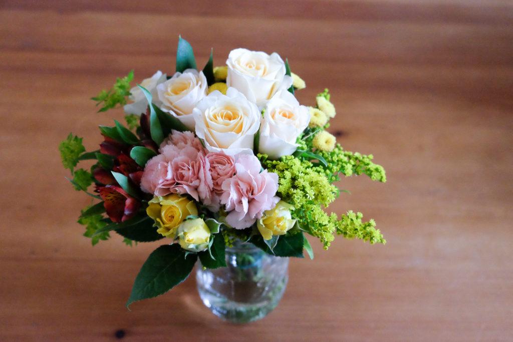 誕生日にもらったお花