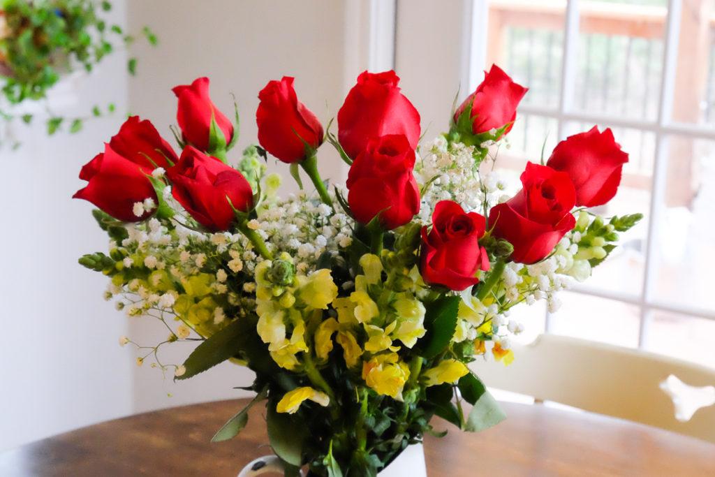 バレンタインのお花
