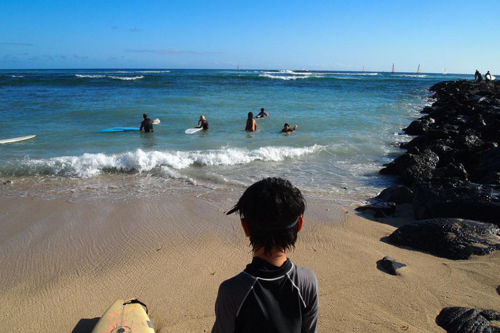 サーフィンに挑戦