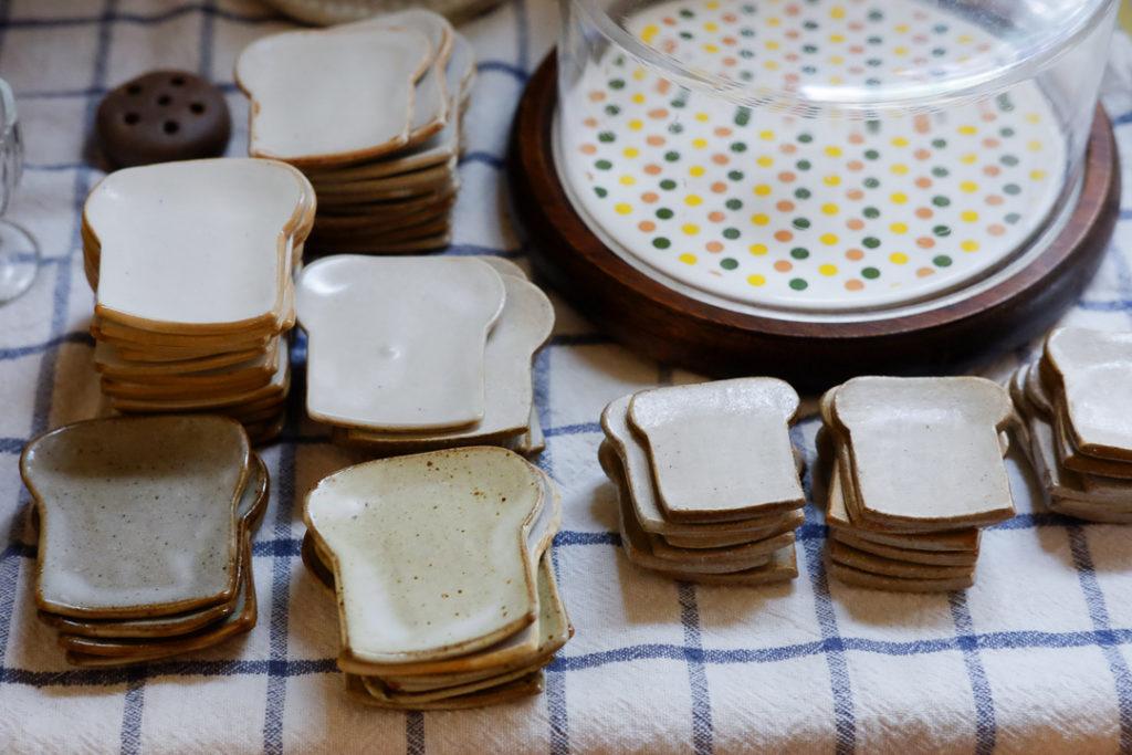 食パン小皿たくさん