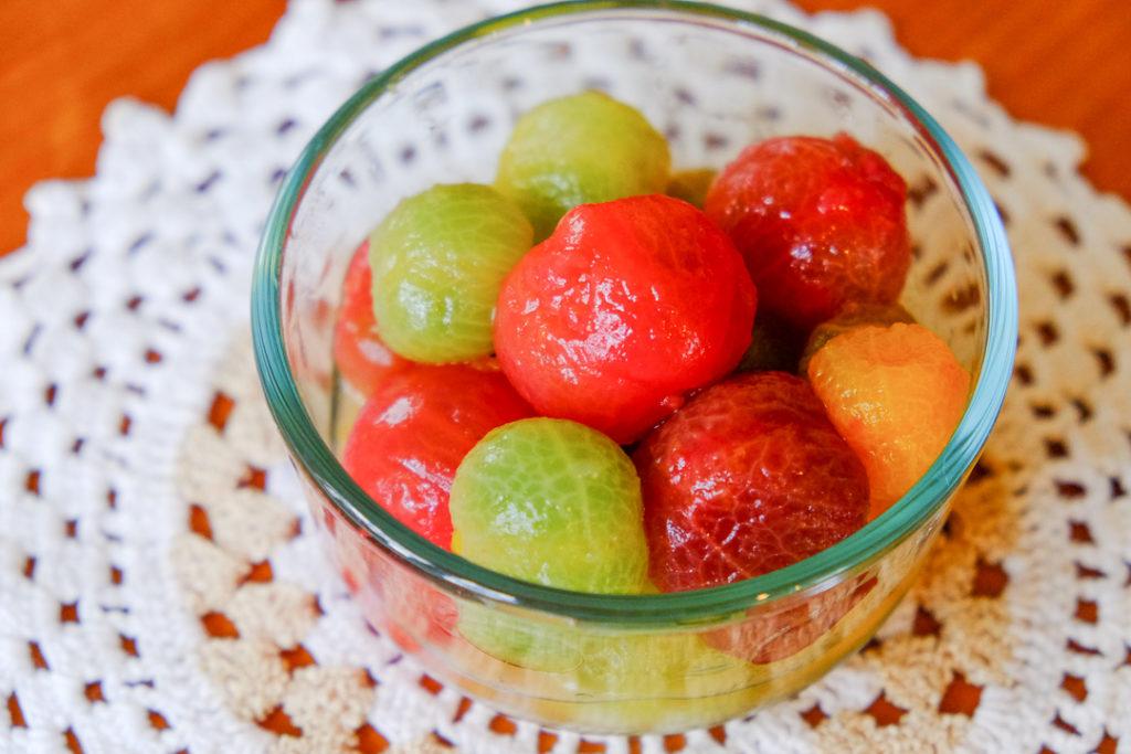 フルーティ湯むきトマトのマリネ