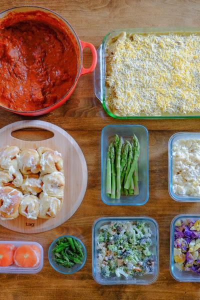 今週の作り置き*チキンエンチラーダ、トマトのファルシー、マカロニサラダ、など