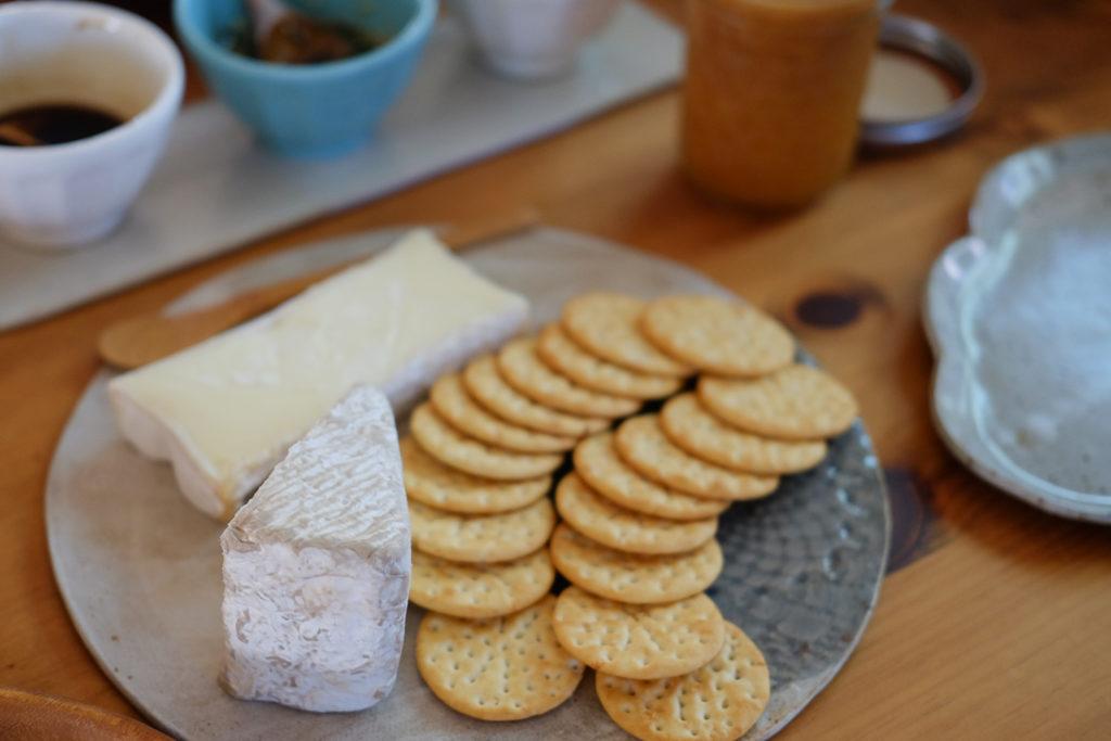 トリプルクリームのチーズ二種類