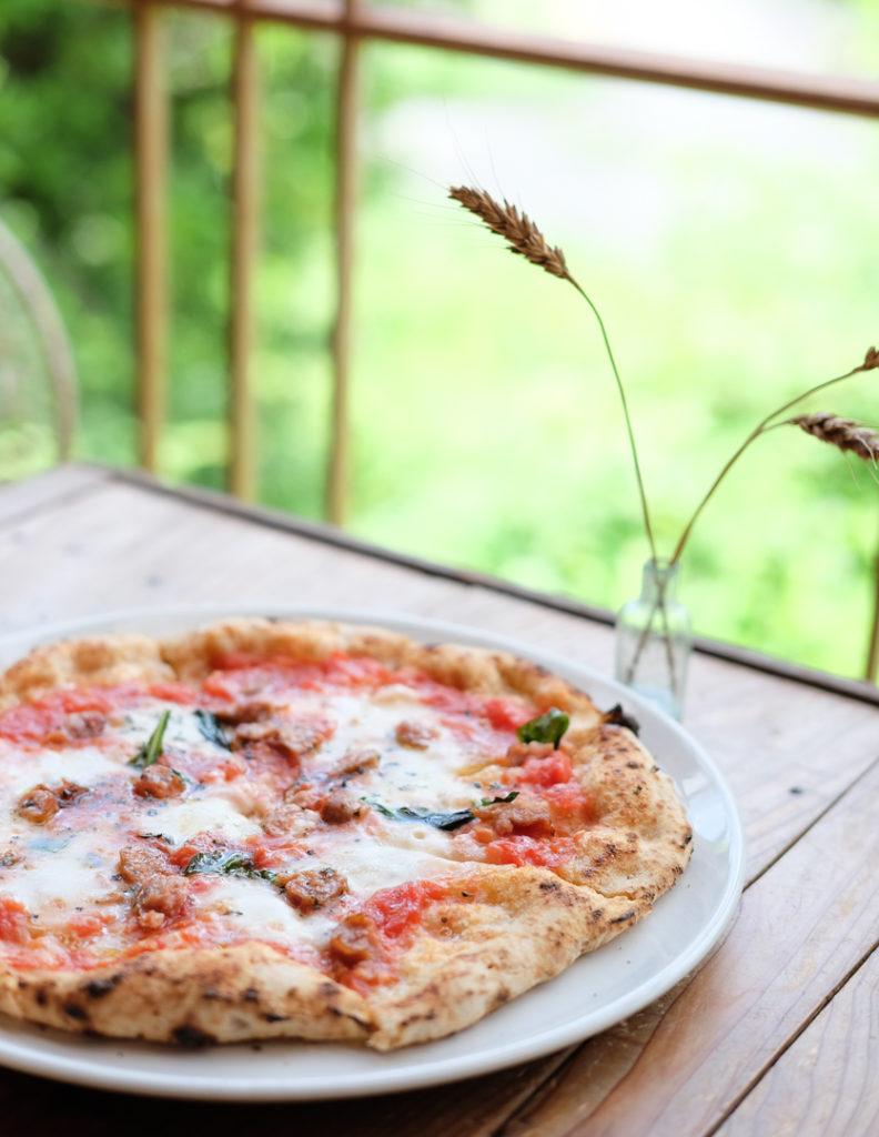 サルシッチャと木次チーズのピッツァ