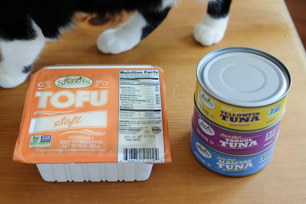 豆腐とツナ