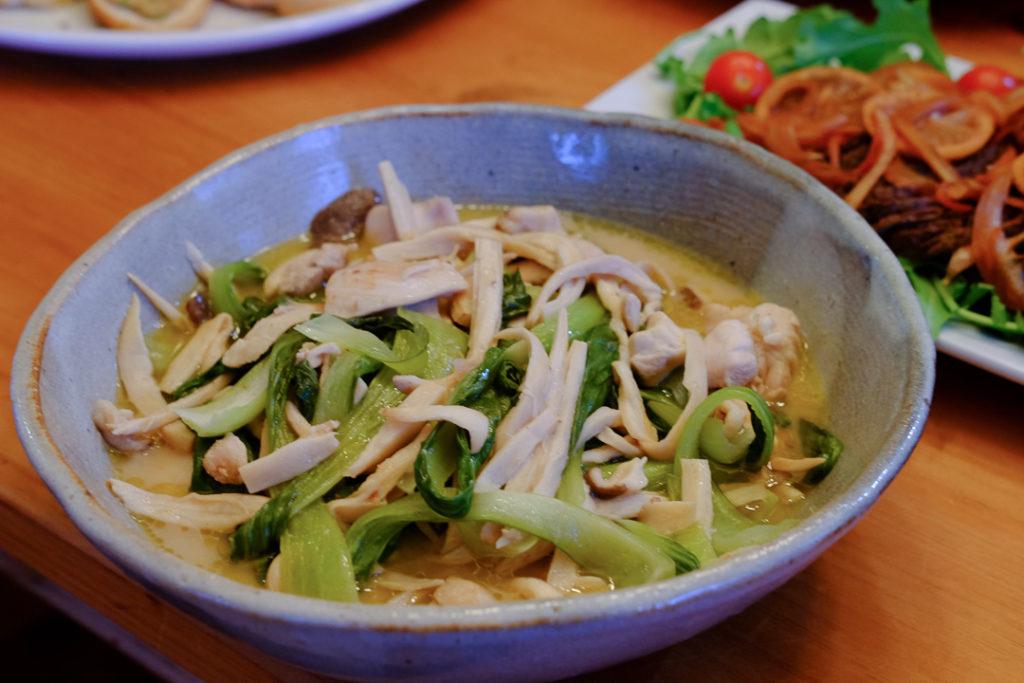 エリンギと青梗菜の炒め物