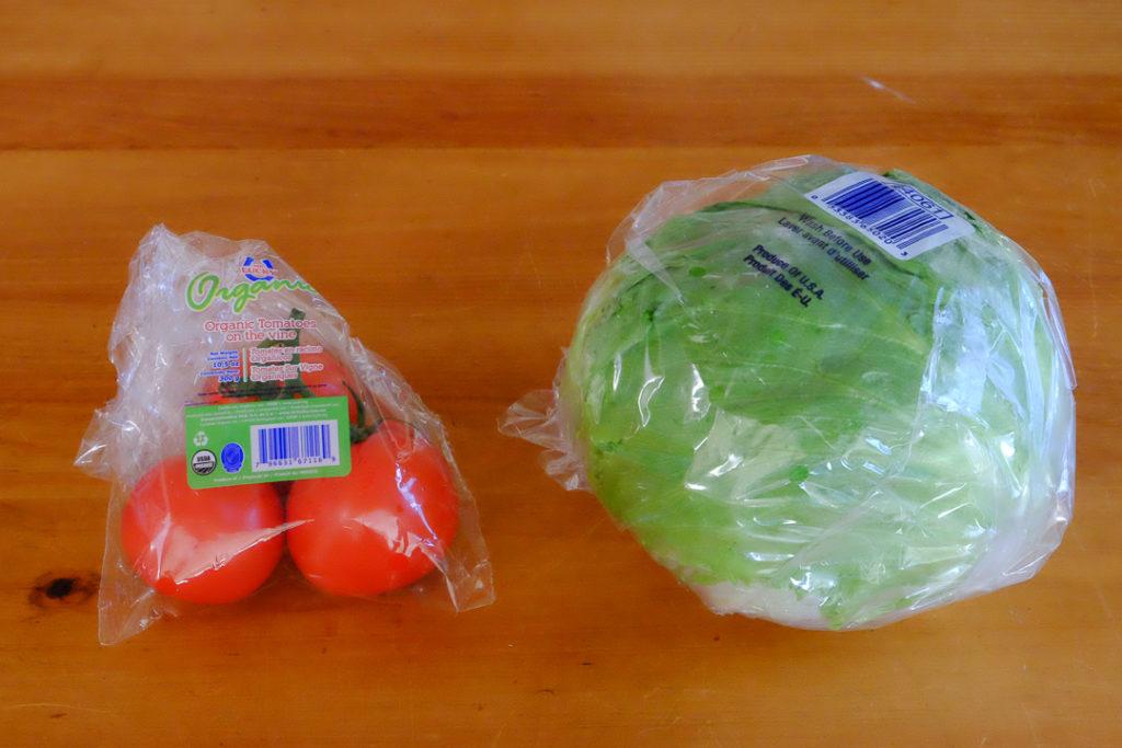 レタスと有機トマト