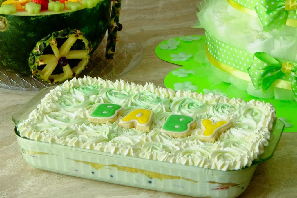 ベイビーシャワーのケーキ・完成版