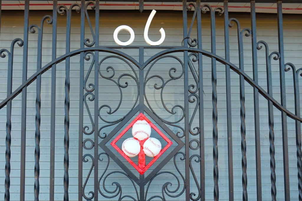 可愛い鉄の扉
