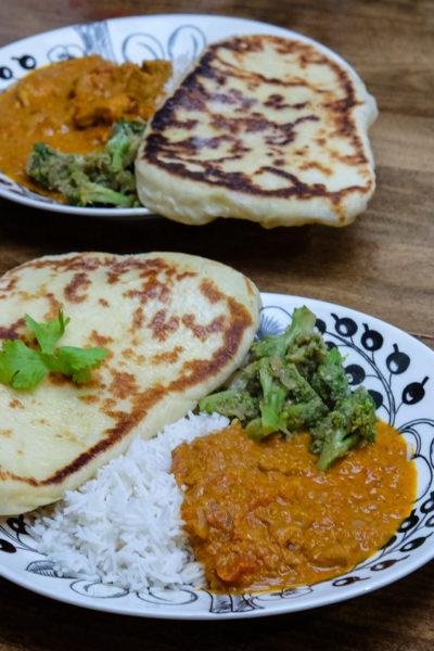 【レシピ】おうちインド料理★「手作りナン」と「バターチキン」