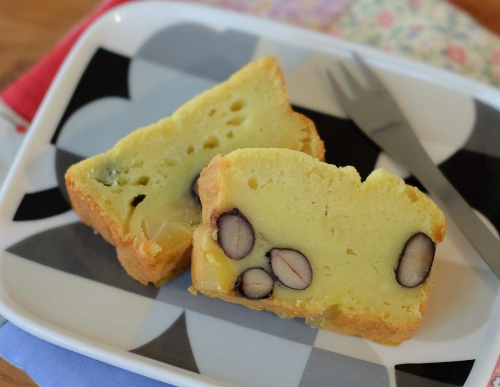 黒豆&栗きんとんのケーキ